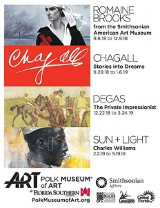 Polk Museum of Art ad with Smithsonian Affiliate logo at bottom right.